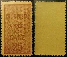France Très Rare Colis Postal N° 7 N** Gomme D'origine Luxe Sans Charnière ! Cote 2017 : 55,00 € ! A Voir Absolumen