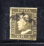 ASI404 - SICILIA , 1 Grano Usato . A Filo A Destra - Sicilia