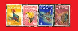 Malaisie Malaysia 1965°,  Oiseaux Birds - Passereaux