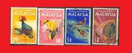 Malaisie Malaysia 1965°,  Oiseaux Birds