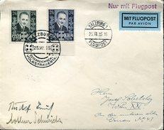 18627 Austria, Flugpostcover 1935 From Salzburg To Wien With 2 Dolfuss Stamps - Luftpost