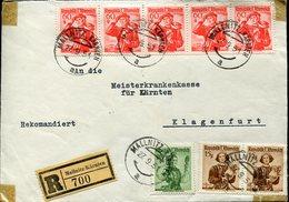 18629 Austria, Cover  Registered 1951 From Mallnitz Karnten To Klagenfurt