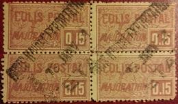 France Superbe Colis Postal N° 16 En Bloc De 4 Oblitéré Du 13 Janvier 1921 ! Cote 2017 : 6,00 € ! A Voir !
