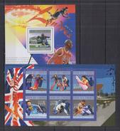 COMOROS  2010 Olympics Olympic Games 2012 London Sheetlet+SS Perf.