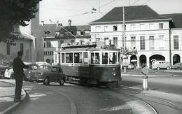Fribourg. Tilleul. Tramway Ligne 2. Photo Jacques Bazin. 4 Septembre 1959