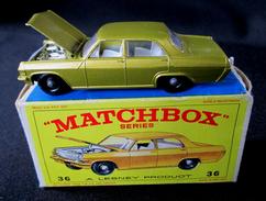 LESNEY - MATCHBOX *** NR 36 - OPEL DIPLOMAT  -  ORIGINAL BOX - VOITURE CONDITION A - EN BOITE ORIGINALE *** 1966 - Jouets Anciens