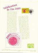 France Document Officiel Du 5 Juillet 1999 Paris Celebration De L'an 2000 - Documentos Del Correo