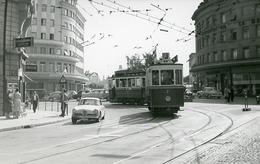 Fribourg. Près De La Gare CFF. Tramway Ligne 3. Photo Jacques Bazin. 4 Septembre 1959.