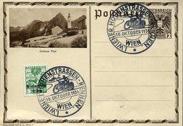 18646 Austria, Special Postmark 1936 Wien, Motorcycle Racing Of Vienna, Wiener Hohenstrassen Rennen - Otros