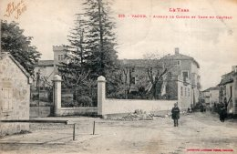 V6475 Cpa 81 Vaour, Avenue De Cahors Et Tour Du Chateau - Vaour