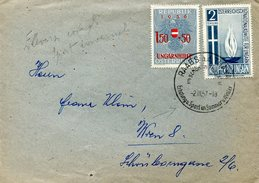 18652 Austria, Special Postmark 1957 Raabs A/d Thaya, Erholung Sport Im Sommer U. Winter, Ungarnhilfe - Other