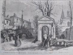 Gravure 1867  La Neuvaine De Sainte-Geneviève  Le  Puits Et La Chapelle   NANTERRE  Patronne De Paris - Nanterre