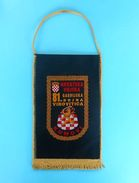 KUMOVI - 81. GARDIJSKA BOJNA VIROVITICA - Croatia Army Larger Pennant Flag Croatie Armee Fanion Kroatien Croazia Croacia - Flags