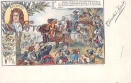 Catinat Bataille De La Marsaille 1693 Illustration Chocolat Louit Campagne Militaire Maréchal Cheval - 2 SCANS - Politicians & Soldiers