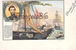 Le Prince De Joinville Attaque De Saint Jean D'Ulloa 1838 Illustration Chocolat Louit Marin Voilier Capitaine Flotte - Politicians & Soldiers