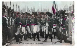 Napoleon Bonaparte 1er Les Adieux De Fontainebleau Militaire Armee Nationale - 2 SCANS - Politicians & Soldiers