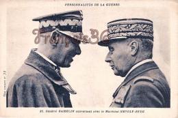 Général Gamelin Conversant Avec Le Maréchal Smygly Rydz Personnalités De La Guerre - 2 SCANS - Politieke En Militaire Mannen
