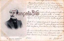 M. Edmond Rostand Auteur De L'Aiglon Ecrivain -  2 SCANS - Ecrivains
