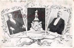 Loubet Berteaux Monument Gambetta Bordeaux 1905  - 2 SCANS - Politicians & Soldiers