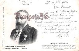 Sully Prudhomme Poète Français  Casiez Bourgeois  - 2 SCANS - Ecrivains