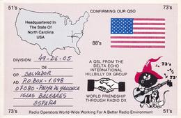 Robbinsville North California USA RADIO Palma De Mayorque Baleares Delta Echo Hillbilly Dx Group 1991 - United States