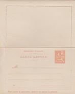 France Entier Postal Carte-lettre 15c Orange Type Mouchon