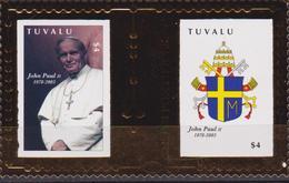 Tuvalu - Papa /  Pope / Giovanni Paolo II - Johan Paul II  Karol Wojtyla / Gold - Papi