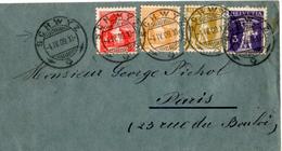 Lettre De Schwyz (04.05.1909) Pour Paris_Tell_Helvetia