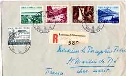Lettre Recommandée De Lausanne_Mousquines (01.06.1954) Pour Saint Martin De Ré_Pro Patria - Suisse