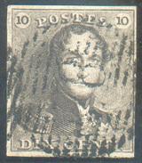 N°1 - Epaulette 10 Centimes Brune, Bien Margée, Obl. P.78 MALINES. - 11654 - 1849 Epaulettes