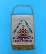 4. BRIGADA (PAUCI) SPLIT - 2. BOJNA (Croangels Sinj) ZNG Croatia Army Pennant Flag Croatie Armee Fanion Kroatien Croazia - Flags