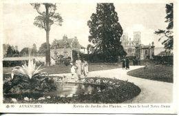 N°42007 -cpa Avranches -entrée Du Jardin Des Plantes-