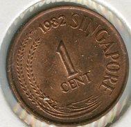 Singapour Singapore 1 Cent 1982 KM 1a - Singapour