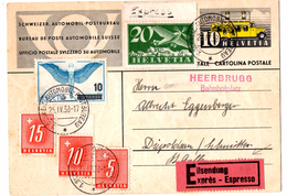 Lettre Expres_Eilsendung De Schweiz Automobil_Post Bureau (26.04.1938) Pour Saint Gallen Via Heerbrugg