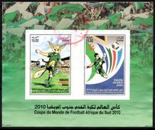 ARGELIA 2010 Used Sheet BF Oblitéré World Cup Football South Africa Fußball Südafrika  Soccer Calcio Futbol