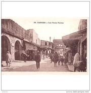 TGRTPA5918CPA-LFT7C495TABU.Maroc .Morocco.TARJETA DE TANGER.casas,personas Y Animales.LAS TRES PUERTAS. TANGER - Burros