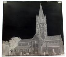 Eglise De Secqueville En Bessin Calvados Normandie - Négatif Sur Plaque De Verre 6X6cm Env - Glass Slides
