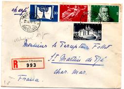 Lettre Recommandée Chargée De Lausanne_Mousquines (27.02.1948) Pour Saint Martin De Ré