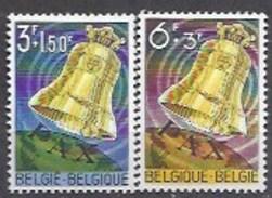 BELGIQUE - Cob - 1241/42**- Cote 2,50 € - Bourdon De La Paix De La Basilique De Koekelberg