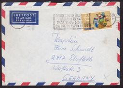 AZ133      Air Mail Cover Malaysia Penang  Slogan Pmk SPORTS TOTO MALAYSIA...... To Germany Elsfleth - Malesia (1964-...)