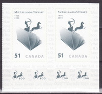 Canada 2006 Centenary Of McClelland & Stewart 2x MNH**