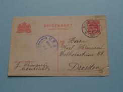 CP Briefkaart Holland Stamp MAASTRICHT ( ) 1917 DRESDEN ( Zie Foto Details ) !!