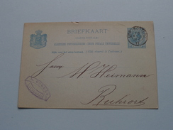 CP Briefkaart Holland  : M. ENGERS ROTTERDAM 1887 RUHRORT ( Zie Foto Details ) !!