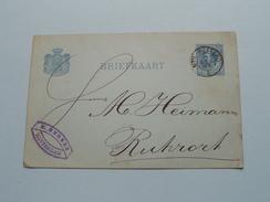 CP Briefkaart Holland  : M. ENGERS ROTTERDAM 1885 RUHRORT ( Zie Foto Details ) !!