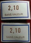 France Fictif N° F230 N** Luxe Gomme D'origine Sans Charnière Ni Trace, Variété 1 Clair Et Foncé. Cote 2017 : 2 E - Fictifs