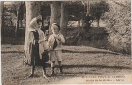 PONT DE BRIQUES (62) - BORDS DE LA RIVIERRE - Autres Communes