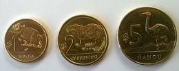 URUGUAY - Lot De 3 Monnaies - 1, 2 Et 5 Pesos - 1911/1912 - - Uruguay