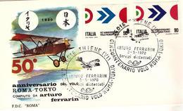 Fdc Roma Italia: VOLO ROMA - TOKYO (1970); No Viaggiata; AS_Thiene - 6. 1946-.. Republic