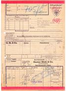 Eilfrachtbrief DB 1955 Gustav Stich & Co. Fleischwarenfabrik BAD BRAMSTEDT > ST. ANDREASBERG Frachtbrief (183-3) - Chemin De Fer