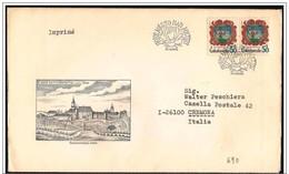 Cecoslovacchia/Czechoslovakia/Tchécoslovaquie: FDC, Stemma, Coat Of Arms, Blason, Rosa, Rose